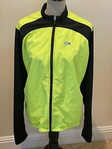 Louis Garneau Men's Cycling Jacket Bright Yellow & Black - Size XL