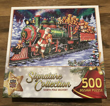 Masterpieces Signature Collection North Pole Delivery 500 Jigsaw Puzzle Xmas