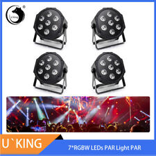 4PCS 7LED RGBW DMX Light PAR CAN DJ Stage Lighting Disco Party Uplighting Show