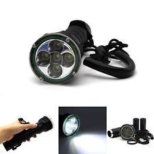 8000LM 5X Cree XML XM-L T6 LED Scuba Flashlight Torch 100M Underwater Diving