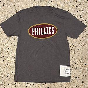 Phillies Blunt Shirt Adult Medium Gray Red Logo Cigars Smoking Original Mens 90s