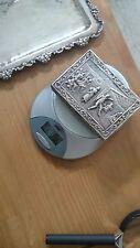 800 er Silber bildschöne Silber Schatulle / Dose  Halbmond Krone