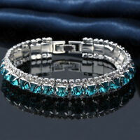 Elegant Jewelry Sparkling Rhinestone Cubic Zircon Bracelet Women Wedding Party