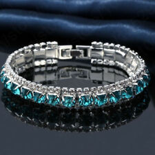 Elegant Jewelry Sparkling Rhinestone Cubic Zircon Bracelet Women Wedding Party
