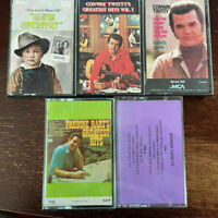 Audio Cassette Lot of 5 - ELVIS PRESLEY, CONWAY TWITTY, FREDDIE HART, SHA NA NA