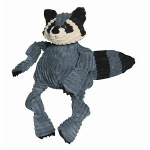 Hugglehounds Knottie Plush Dog Large Toy Durable Squeaky Raccoon Play Fetch Chew