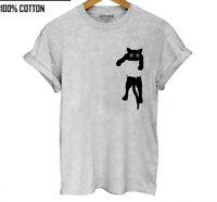 100% Cotton Cat Print Women T-Shirt Casual Short Sleeve T-Shirt Female O-Neck