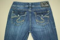 Silver Suki Surplus Boot Cut Jeans Women's Size 26 Flap Pocket Medium Wash