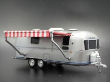 1972 Airstream Land Yacht Double Axle Trailer Camper 1:64 Diorama Diecast Model