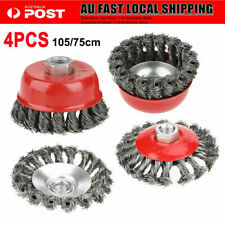 4pcs Twist Knot Semi Flat Wire Wheel Cup Brush Set Fit for 115mm Angle Grinder