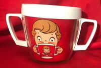 THERMO SERV WESTBEND CAMPBELL SOUP? Cup BOY & GIRL PLASTIC Mug 2 Handles