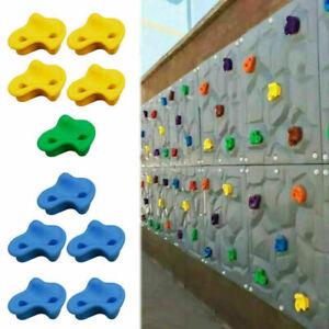 10Pcs Kids Children Climbing Rock Wall Grab Holds Grips with Screws Kits UK SHIP