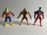 X-Men Marvel Comics Toy Biz Action Figure Lot - Gladiator, Doc, Sabretooth - 90s