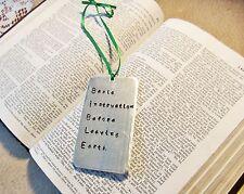 Personalized Hand Stamped Bookmark, Customized Bible Verse Christian Keepsake