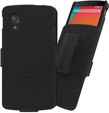 Stalion® Secure Belt Clip Holster & Shell Case w Kickstand for LG Google Nexus 5