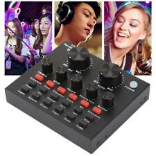 V8 Audio USB External Sound Card Headset Microphone Webcast Live Broadcast