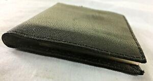 Black Leather Card Holder Wallet - Credit card