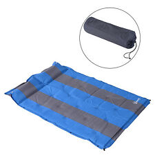 "1.2""T Folding Double Self Inflating Pad Sleeping Mattress Air Bed Camping Hiking"