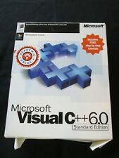 Microsoft Visual C++6.0 Standard Edition Computer Software
