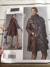 Vogue 1441 Koos Van Den Akker American Designer Coat Pattern XS-M Uncut