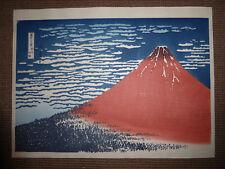 Hokusai Le Fuji rouge. Très beau retirage du début du XXe s. grand format