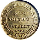 Philadelphia Pennsylvania Hard Times Token Isaac Barton R6 HT-385A NGC