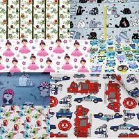 Children Fabric Nursery Kids Baby 100% COTTON Material Boy Girl Owls Princess