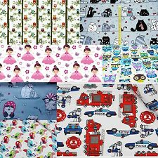 Children Fabric Nursery Kids Baby 100% COTTON Material Boy Girl Owls Princess