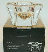 Orrefors Vintage Max Crystal Votive Holder Made in Sweden Design By Anna Ehrner