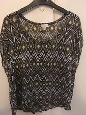 WITCHERY Patterned linen Top M