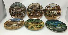 Charles Wysocki American Frontier - Set Of 6 Plates - Bradford Exchange 1993