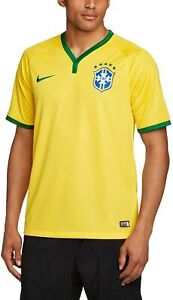 NWT Nike 2014/15 World Cup Brazil Home Jersey Shirt 100% AUTHENTIC SZ L,2XL $90