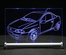 Opel Tigra  als AutoGravur auf LED Leuchtschild