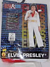 Size 4-6 Child Rock Star Elvis White Halloween Costume School Party Theater