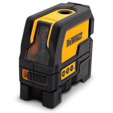 DeWalt CROSS LINE LASER LEVEL WITH PLUMB SPOTS DW0822XJ Red Beam +4x1.5V Battery