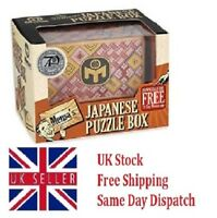 Mensa - Wooden Japanese Puzzle Magic Trick Box Square Cube - 12 Steps New!!