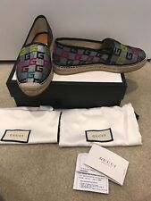 100 Authentic Gucci Pilar G Logo Espadrille Size 40