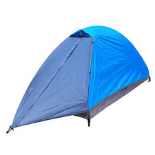 One-man Windproof Waterproof Double Layer Tent Outdoor Camping 3 Season Blue New