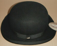 NEW Scala BLACK bowler DERBY HAT size small BLACK new
