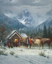 """G. Harvey """"Chapel in the Tetons"""" Artist Proof #315/325 Focus on the Family 2010"""