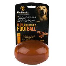 Starmark Treat Dispensing Football Dog Toy Medium