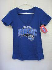 NBA Orlando Magic Women's Short Sleeve V Neck Graphic T-Shirt  Royal Blue Sz. Sm