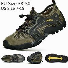 Мужские кроссовки на открытом воздухе обувь для воды сетчатый дышащий скольжения на квартиры пеших прогулок, повседневные, размер