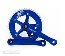 "NEW Sugino MESSENGER RD Single Speed Track Crankset 46T 165mm 1/8"" BLUE"