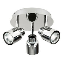 IP44 Modern 3 Way Chrome Bathroom Ceiling Spot Light Spotlights Lights Fittings