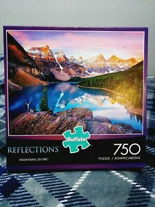 Mountains on Fire Reflections 750 Pc Jigsaw Puzzle