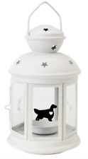 More details for english setter lantern gift dog indoor/outdoor personalised white christmas