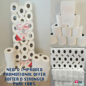 72 TOILET ROLLS PPC 2 PLY 21m TISSUE LUXURY QUILTED  SPECIAL OFFER