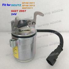 for Deutz BMF2011 BF4M2011 BF4M 2012 Fuel Shut Off Solenoid Valve 0427 2957 24V