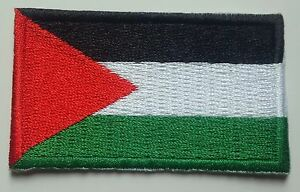 Palestine Flag Patch Embroidered Iron On Applique Palestinian